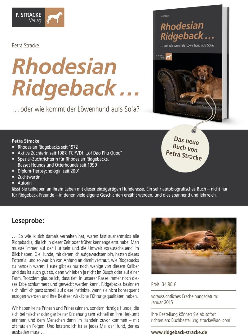 Rhodesian Ridgeback... oder wie kommt der Löwenhund aufs Sofa?